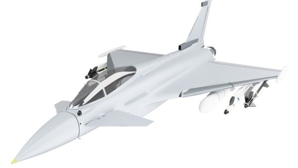 Typhoon aircraft as seen in Olive Learning's serious gaming