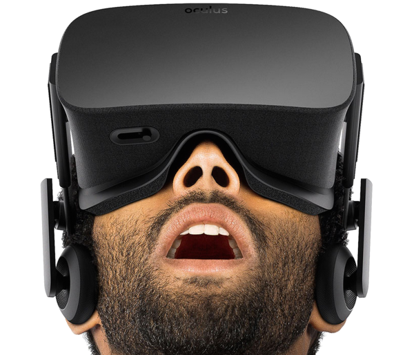 man's reaction to Oculus Rift training