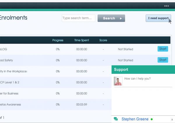 enrollments screen on Olive Learning's LMS