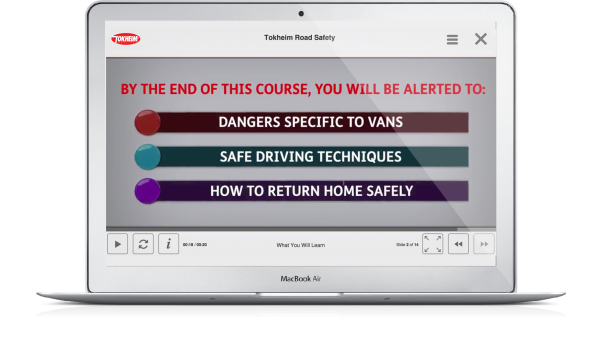 bespoke elearning content produced for Tokheim by Olive Learning