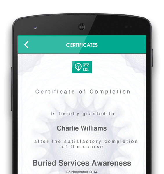Olive Learning's Academy LMS certificate of completion